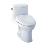 TOTO® Connect+® Kit UltraMax® II One-Piece Elongated 1.28 GPF Toilet and Washlet® S300e Bidet Seat, Cotton White - MW604574CEFG#01