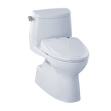 TOTO® Connect+® Kit Carlyle® II 1G® One-Piece Elongated 1.0 GPF Toilet and Washlet® S350e Bidet Seat, Cotton White - MW614584CUFG#01
