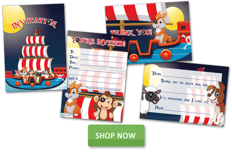 Kids Themed Party Invites