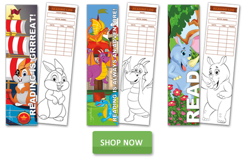 Coloring Bookmarks with Reading Log