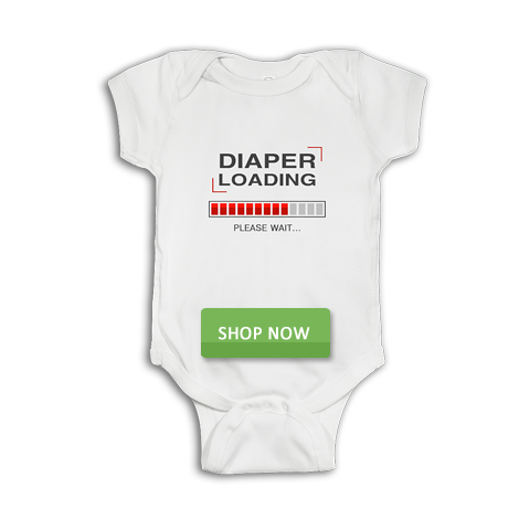 Diaper Loading Please Funny Baby Onesie