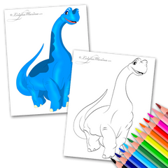 Blue Dinosaur Coloring Page