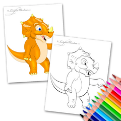 Orange Dinosaur Coloring Page