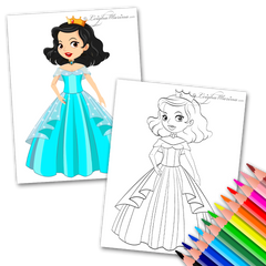 Princess Leigha Coloring Page