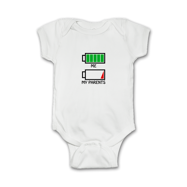 Funny Infant Onesie 'Me vs My Parents'