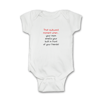 Funny Baby Onesie 'That awkward moment...'