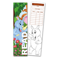 30 Rhino 'Read' Coloring Bookmarks with Reading Logs