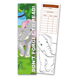30 Elephant 'Don't Forget to Read' Coloring Bookmarks with Reading Logs