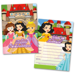20 Kids Party Invitation Cards Princess Themed and 20 Envelopes