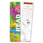 30 Dinosaurs 'Read' Coloring Bookmarks with Reading Logs