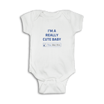 Funny baby Onesie 'I'm a really cute baby' thumbs up 'You like this.'