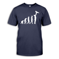 Men Short Sleeve T-Shirt Father Evolution