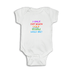 Funny Baby Onesie 'I only cry when ugly people hold me!'