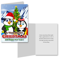 15 Greeting Cards and 15 Envelopes 'Merry Christmas and Happy New Year'