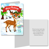15 Greeting Cards and 15 Envelopes 'Happy Holidays'