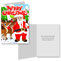 15 Greeting Cards and 15 Envelopes 'Merry Christmas'