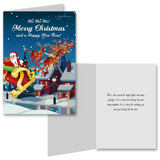 15 Greeting Cards and 15 Envelopes 'Ho Ho Ho Merry Christmas and a Happy New Year'