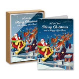 Merry Christmas and a Happy New Year Boxed Greeting Cards