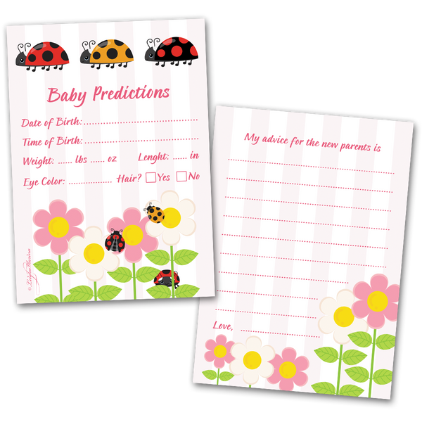 Baby Shower Game Baby Predictions Cards