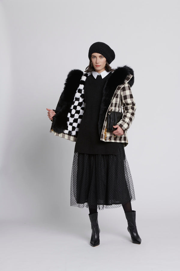 Duchess of Black Parka (Mink Lining)