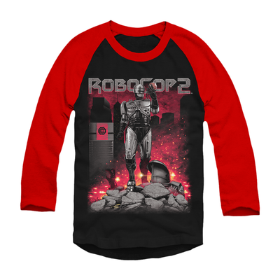 Robocop 2: Destroyer - Baseball T-Shirt
