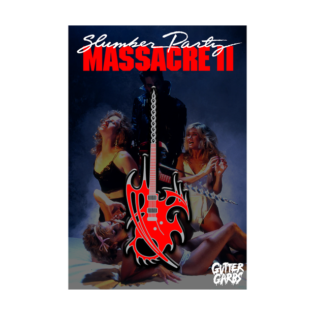 Slumber Party Massacre II: Guitar Drill - Enamel Pin