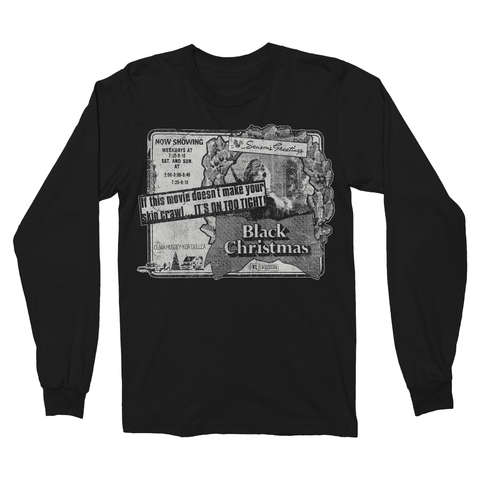 Black Christmas: Newspaper Ad - Long Sleeve T-Shirt