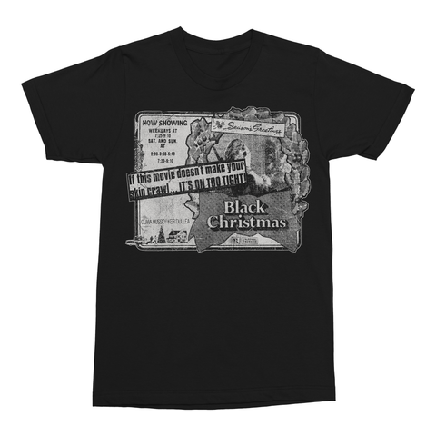 Black Christmas: Newspaper Ad T-Shirt
