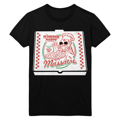 The Slumber Party Massacre: Pizza Box T-Shirt (V1)