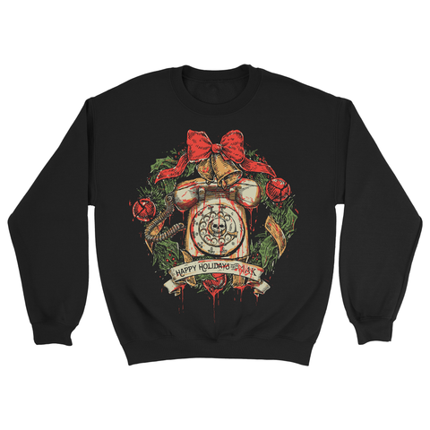 Black Christmas: Holiday Wreath - Crew Neck Sweatshirt