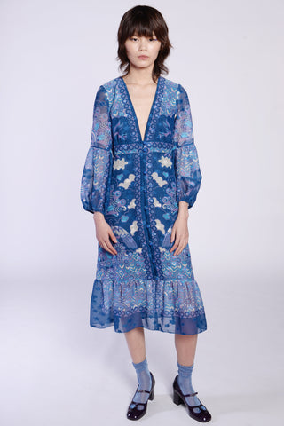 Botanical Patchwork Tunic Dress
