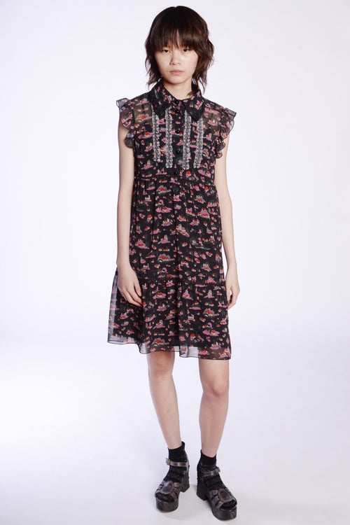 Little Village Chiffon Button Front Dress - Anna Sui
