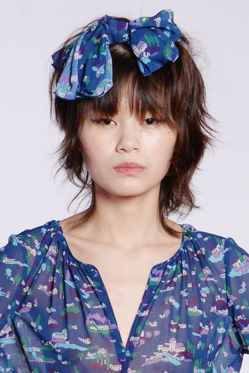 Little Village Chiffon Bow Turband - Anna Sui