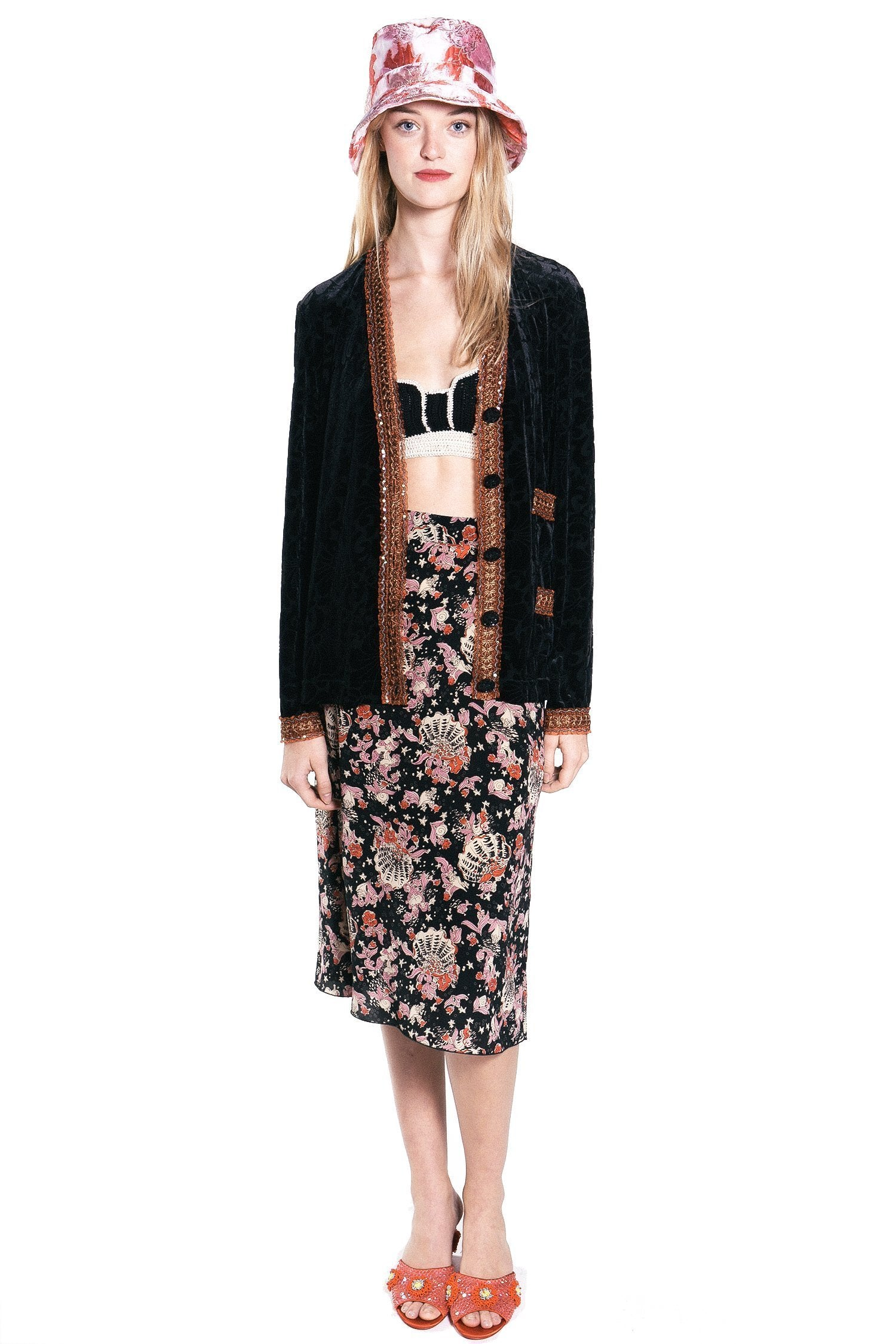 Floating Palms Burnout Cardigan - Anna Sui