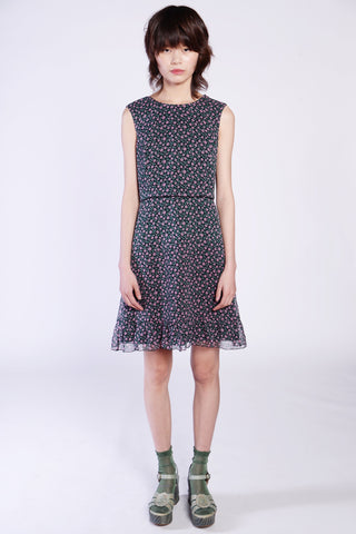 Bands of Daisies Button Front Dress
