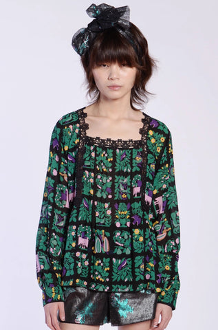 Flowers In the Field Jacquard Top