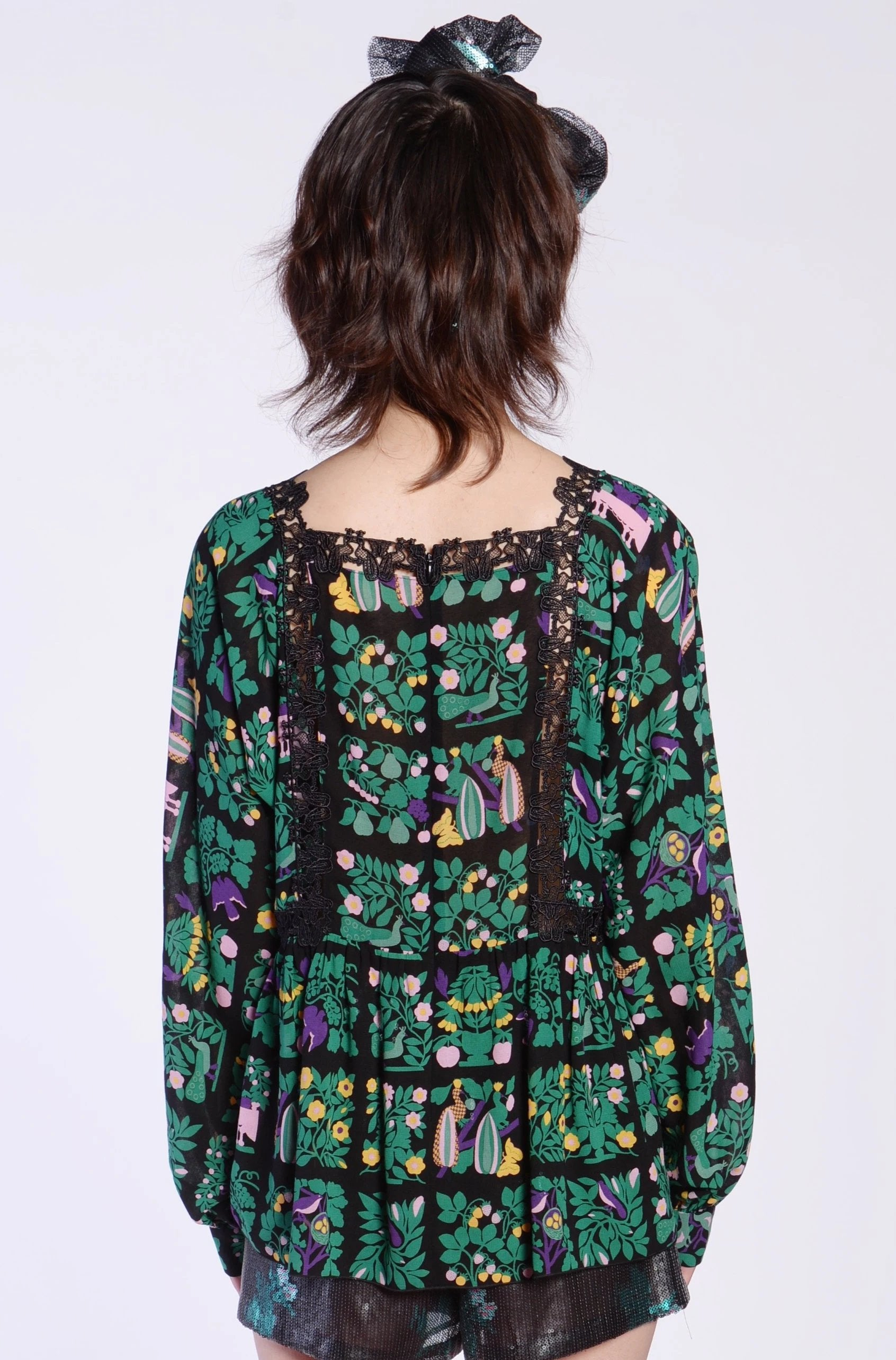Al Fresco Long Sleeve Blouse - Anna Sui