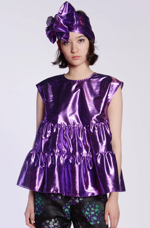 Tissue Lame Top - Anna Sui