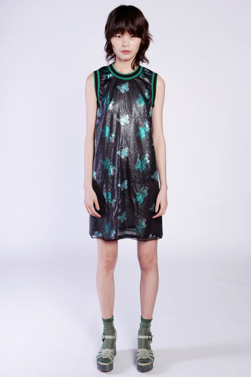 Sequin Butterfly Sleeveless Dress - Anna Sui