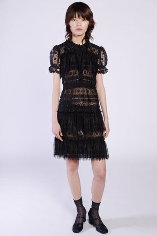 Crochet Knit Lace Drape Dress