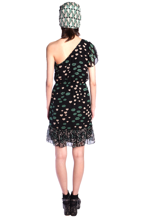 Asymmetric Sweetheart's Kiss Dress - Anna Sui