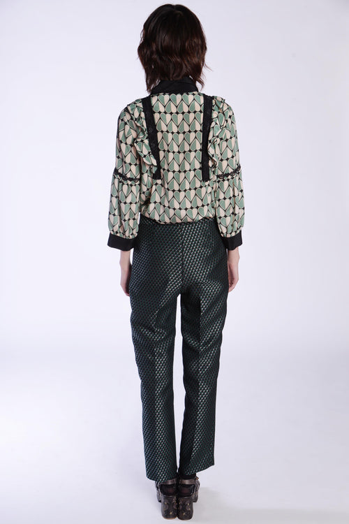 Diamonds Are Forever Jacquard Pants - Anna Sui