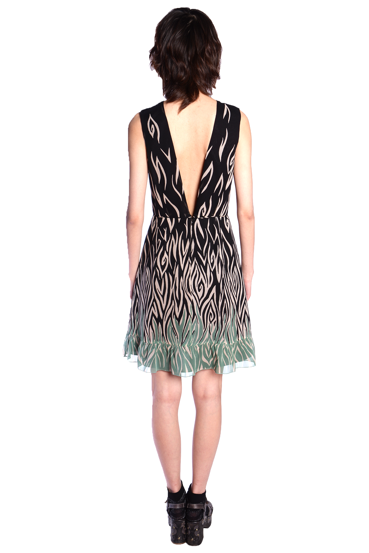 Love's Flame Sleeveless Dress - Anna Sui