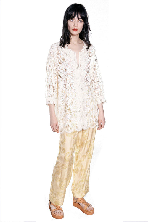 Climbing Orchids Lace Full Sleeve Top - Anna Sui