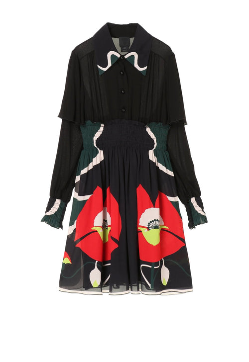Poppy Road Button Dress - Anna Sui