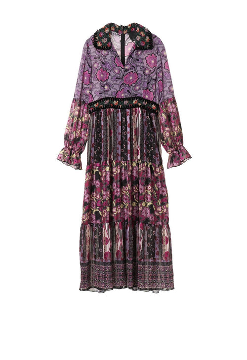 Larkspur Fields Patchwork Dress - Anna Sui