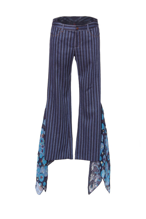 Striped Denim Twill Pant