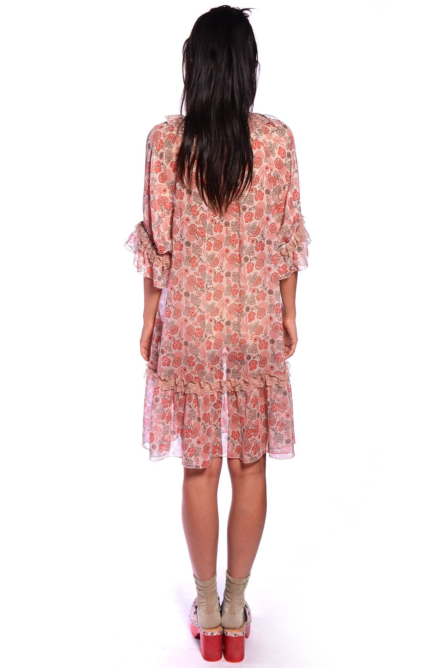 Flowers In the Field Babydoll Dress - Anna Sui