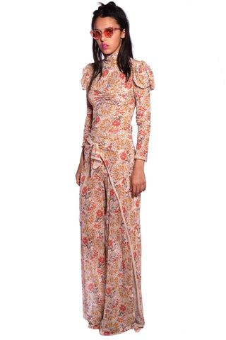 Botanical Patchwork Maxi Dress