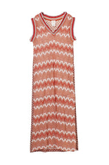 Zig Zag Knit Maxi Dress - Anna Sui